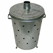 75 LITRE INCINERATOR Galvanised Metal Garden Waste Rubbish Wood Fire Bin Burner