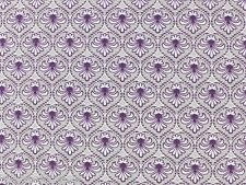 French Cottage Collection Gutermann Mauve Grey Ornament Fabric Fat Quarter