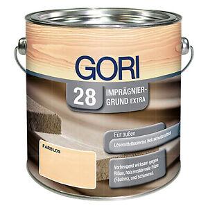 GORI 28 Imprägniergrund Extra 750ml Grundierung Holzschutz Fäulnis- Bläueschutz