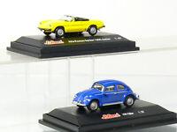 Schuco VW Maggiolino + MM Romeo Ragno 1300 Junior H0 IN Vetrina