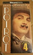Agatha Christie's Hercule POIROT Collector Set 4 on 3 VHS Tapes Box Set