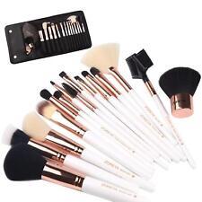Zoreya(Tm) Makeup Brushes 15 Piece Rose Gold Professional Woman Shading Brush