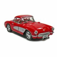 New Kinsmart 1957 Chevrolet Corvette Chevy Diecast Model Toy Car 1:34 Red