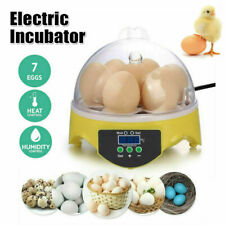 New listing Mini 7 Egg Incubator Hatcher Digital Clear Temperature Control Duck Bird 110V