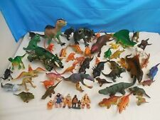 HUGE LOT OF PREHISTORIC DINOSAURS 56 PIECES RUBBER CAVEMEN PLAY EDUCATIONAL