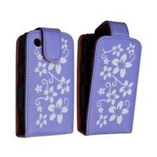 Housse coque étui violet motif fleurs pour Blackberry Curve 8520 + film de prote