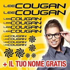 KIT LEE COUGAN 16 ADESIVI PRESPAZIATI BICI CICLISMO STICKERS DECAL + NOME GRATIS