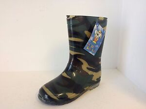 Kids Gumboots Camo Size 4 5 6 7 8 9 10 11 12 13 1 2 Wellies Childrens Child NEW