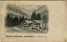 Switzerland Adelboden - Pension Alpenruhe old postcard