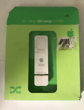 Apple iPod Shuffle A1112 USB 1st Gen in Box 512MB White MP3 Player Barely Used