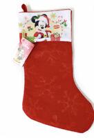 "Disney Mickey Mouse Christmas Stocking Felt 16"" NEW!"