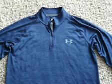Mens Under Armour Heatgear Navy Blue Long Sleeve 1/4 Zip Pullover Size S