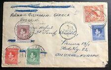 1937 Wewak Papua New Guinea Airmail Cover  To Vienna Austria Via Greece