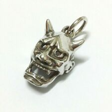 Pendant Hannya Mask Silver 925 Necklace Japanese BUDDHIST Jewelry Evil Oni Noh