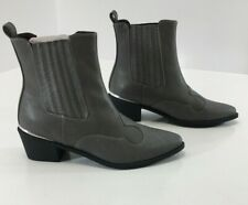 Truffle Collection Women Ankle Bootie Faux Leather/Snake Grey Sz US:8/UK:6 NEW #