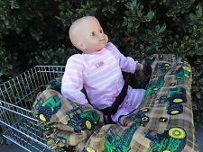 Green John Deere shopping cart cover/high cover-handmade