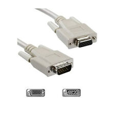 15 Metros Color Beige Monitor Vga Extension Lead Svga Lunes 15 Pin Cable 15 M