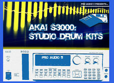 Akai S3000, S3200 & S2800 - Studio Drum Kits - Sample Library 11x Floppy Disks