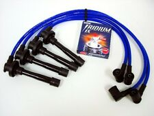 FOR 91-93 NISSAN 240SX KA24DE 10.2MM SPARK WIRES NGK IRIDIUM IX PLUGS KIT BLUE
