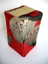 Vtg/Retro 50s 60s Dandelion Clocks Fabric  Door Stop - RED - All colours listed
