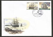 Shipbuilding 1888 Battleship Twelve Apostles. 2001 Ukraine FDC Cover. Nice!