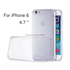 For iPhone 6S 6 Crystal Clear Silicone Case Gel Cover Jelly Bumper Rubber Skin