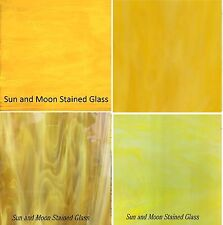 Spectrum + Wissmach Stained Glass Sheets Pack (4 Sheets of 8X10) New YELLOW
