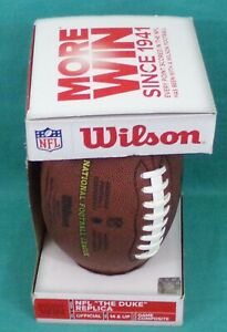 """Wilson NFL """"The Duke"""" Replica Size Official Game Composite Ball with Box"""