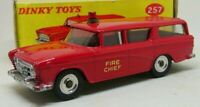 Vintage BOXED Dinky 257 Canadian Fire Chiefs Car 1960- 1967