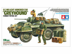 "Tamiya 25196 1/35 U.S. M8 LIGHT ARMORED CAR ""GREYHOUND"" COMBAT PATROL SET"