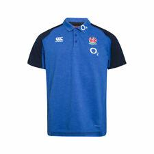 England Rugby Canterbury Men's Cotton Pique Polo Shirt - Blue - New