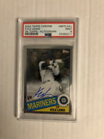 2020 Topps Chrome Kyle Lewis RC ROOKIE AUTO /50 1985 SP PSA 9 Mariners ROY