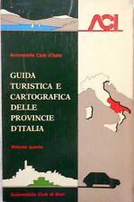 AUTOMOBILE CLUB D'ITALIA GUIDA TURISTICA CARTOGRAFICA VOLUME QUARTO BARI