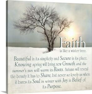 Faith Canvas Wall Art Print, Religious Home Decor