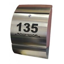 Elite Box Only Stainless Steel Letterbox - A4 sized Modern Mailbox Letter Box