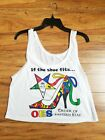 Order of the Eastern Star Jersey White  OES Mid-drift TANK TOP