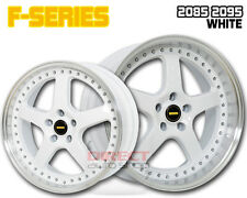 4x FR WHITE 20 inch Staggered Alloy Wheel HOLDEN COMMODORE VL VK VT VY VZ VE VF