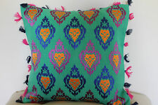 Beautiful Khaadi Handwoven Fabric Embroidered Cushion with Floral design