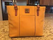 Dooney and Bourke Purse - Pebble Leather Small Lexington Shopper - Mustard