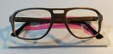 Vintage Swan Optical Planette Brown Satin 56/20 Eyeglass Frame Nos #299