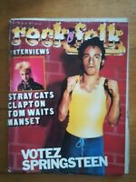 ROCK FOLK N°172 1981 CLAPTON TOM WAITS G MANSET STRAY CATS POSTER STRAY CATS
