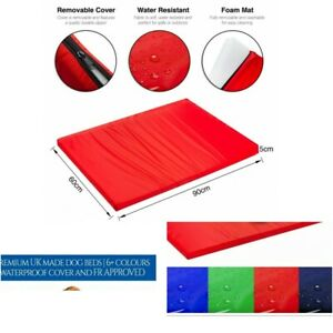 Waterproof Dog Cage Mat Pet Dog Cat Bed Pad Washable Cover FR APPROVED