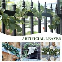 2m Wedding DIY Eucalyptus Leaf Garland Long Plants Greenery Foliage Artificial