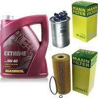 MANNOL 5L Extreme 5W-40 Motor-Öl+MANN-FILTER VW Sharan 7M8 7M9 7M6 1.9 TDI