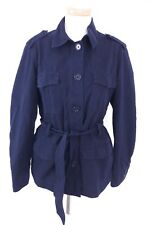 Tommy Hilfiger Womens Navy Blue Tie Up Mac Jacket Coat Small S