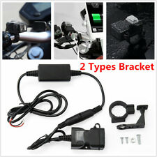 Motorcycle Handlebar Mount 12V Waterproof Switch Dual USB GPS Phone Charger Kit
