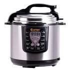 New Costway 6-Quart Electric Pressure Cooker 1000 Watt Stainless Steel Kitchen