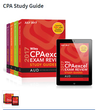 July 2017 Wiley CPAexcel Exam Review Study Guides - CPA Complete Set PRINT read!