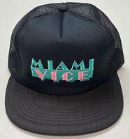 1980's Miami Vice Black Mesh Trucker Snapback Hat, Moja Company, Young An Cap