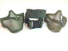 TMC Airsoft Army Green Half Face Wire Mesh Mask W/Military Grade Pistol Web Belt